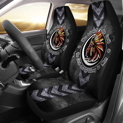 Man Belongs to the Earth - The earth does not belong to Man Car Seat Cover  car seat covers, carthook_checkout, carthook_native, meta-size-chart-car-seat, native, Native America, Native Ameri