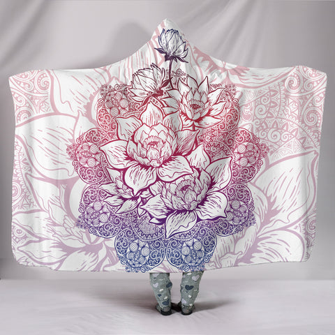 Mandala Paisley Lotus Flower Hooded Blanket  - Nichefamily.com