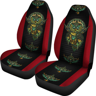 Native American Owl Printed 3D Car Seat Cover