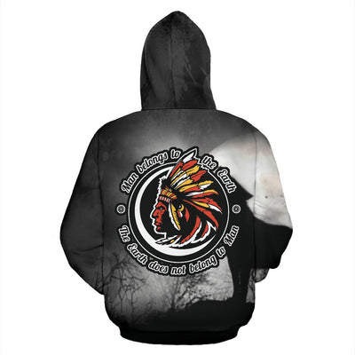 Man Belongs to the Earth - The earth does not belong to Man All Over Hoodie