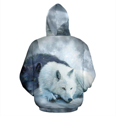 The wolf native American over print hoodie