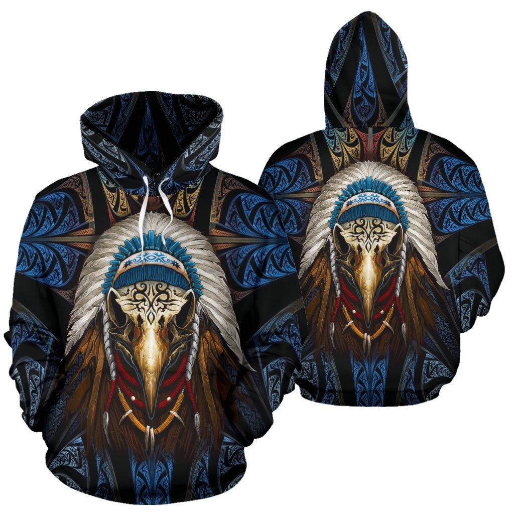 Eagleskull American Native Over Print Hoodie
