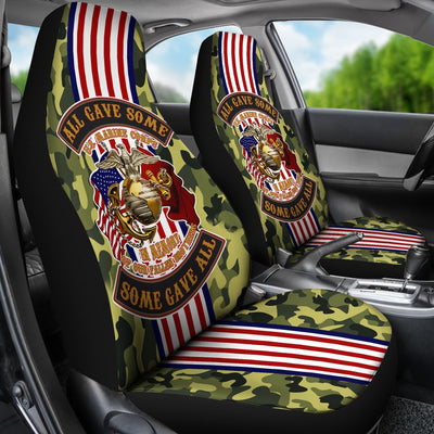 Buy All gave some some gave all U.S Marine car seat cover - Familyloves hoodies t-shirt jacket mug cheapest free shipping 50% off