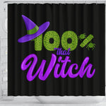 100% That Witch Black Shower Curtain  - Nichefamily.com