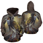 NATIVE AMERICAN INDIAN ARTISTS OVER PRINT HOODIE  carthook_checkout, meta-size-chart-all-over-print-hoodie, native, Native America, Native American, native woman, over print hoodie, overprint