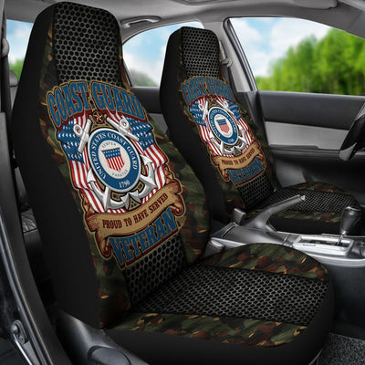 Buy US COAST GUARD PROUD TO HAVE SERVED VETERAN CAR SEAT COVER - Familyloves hoodies t-shirt jacket mug cheapest free shipping 50% off