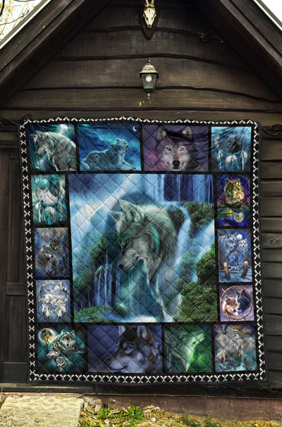 Diamond Painting Wolf Quilts