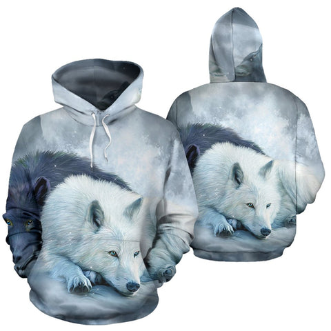 The wolf native American over print hoodie  carthook_checkout, meta-size-chart-all-over-print-hoodie, native, Native America, Native American, Native Hoodie, over print hoodie- Nichefamily.co