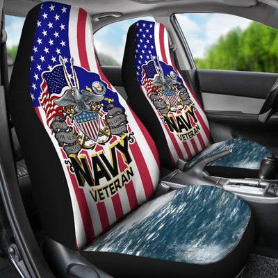 Since 1775 the sea is ours United States Navy veteran Car Seat Covers