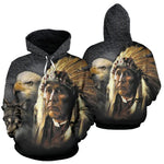 NATIVE AMERICAN INDIAN EAGLE WOLF SPIRIT ANIMALS ALL OVER HOODIE  carthook_checkout, meta-size-chart-all-over-print-hoodie, native, Native America, Native American, overprinthoodie, woman nat