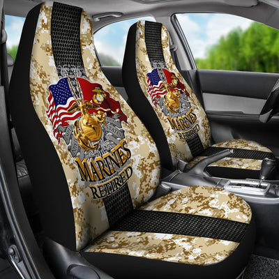 U.S MARINE RETIRED CAR SEAT COVER