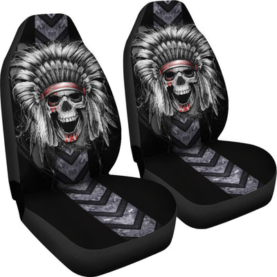 Skull Native America Car Seat Cover