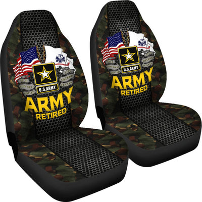 Buy U.S Army Retired Car Seat Covers - Familyloves hoodies t-shirt jacket mug cheapest free shipping 50% off