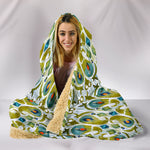 Boho Watercolor Peacock Feather Hooded Blanket  - Nichefamily.com