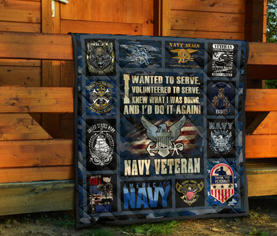 I wanted to serve. I volunteered to serve... Navy Quilts