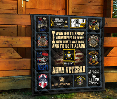I wanted to serve. I volunteered to serve... Army Quilts
