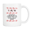 TO MY WIFE SOMETIMES I LOOK AT YOU AND WONDER HOW I GOT TO BE SO LUCKY MUG Drinkware carthook_checkout, family, mug, MUGS, WIFE- Nichefamily.com