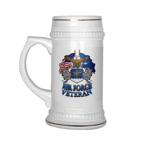 AIR FORCE VETERAN BEER STEIN Drinkware air force, beer stein, carthook_airjacket, carthook_checkout, meta-related-collection-air-force, MILITARY, veteran- Nichefamily.com