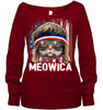 Meowica Cat Mullet American Flag Patriotic 4th of July Gift T Shirt Apparel - Nichefamily.com