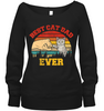 Vintage Retro Best Cat Dad Ever Cat Lover Family Gifts T Shirt Apparel - Nichefamily.com