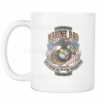 MARINE DAD, MY SON IS A MARINE, I'M PROUD MUG Drinkware carthook_checkout, carthook_marine_embroidered, marine corps, MARINES, meta-related-collection-marine-corps, MILITARY, mug- Nichefamily