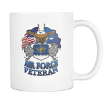 AIR FORCE VETERAN MUG Drinkware air force, AIR FORCE VETERAN HOODIE, carthook_airjacket, carthook_checkout, meta-related-collection-veterans, mug, MUGS- Nichefamily.com