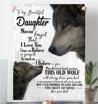 To My Beautiful Daughter Never Forget That I Love You Love Dad Sherpa Fleece Blanket 60x80 Fleece Blankets - Nichefamily.com