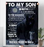 Wolf To My Son Never Feel That You Are Alone Love Mom Sherpa Fleece Blanket 60x80 Fleece Blankets - Nichefamily.com