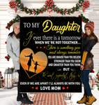 To My Daughter Quotes From Mom Sherpa Fleece Blanket 50x60 Fleece Blankets - Nichefamily.com