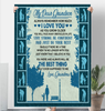 My Dear Grandson Sherpa Fleece Blanket 60x80 Fleece Blankets - Nichefamily.com