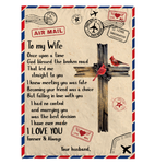 "To My Wife Once Upon A Time God Blessed The Broken Road That Led Me Your Husband Sherpa Fleece Blanket - 60"" x 80"" Fleece Blankets - Nichefamily.com"