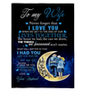 To My Wife Never Forget That I Love You When We Get To The End Of Our Lives Sherpa Fleece Blanket 60x80 Fleece Blankets - Nichefamily.com
