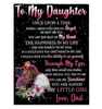 DAD TO DAUGHTER – ONCE UPON A TIME Sherpa Fleece Blanket 60x80 Fleece Blankets - Nichefamily.com