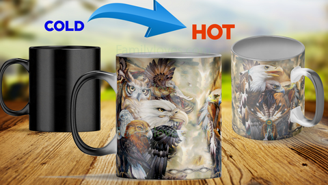 Heat color changing mugs eagle mugs Mugs carthook_checkout, mug, mugs, native- Nichefamily.com