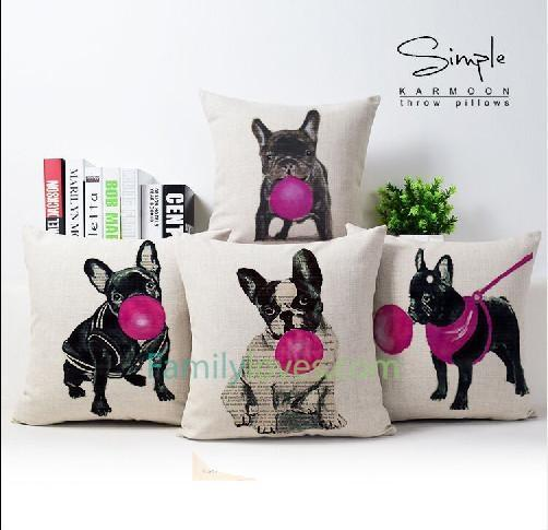 Buy french bulldog pillows covers for sofa - Familyloves hoodies t-shirt jacket mug cheapest free shipping 50% off