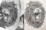 Hot Sale The roar of the Lion King Temporary Tattoo Stickers  carthook_checkout, native tattoo- Nichefamily.com