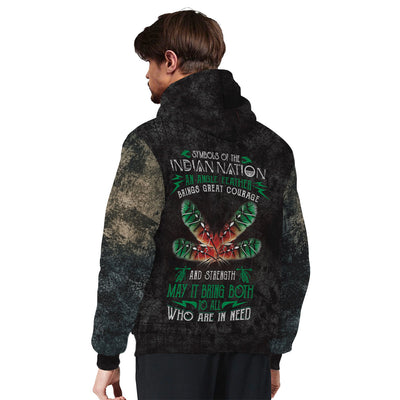 Symbols of the indian nation an eagle feather brings great courage... Sherpa Hoodie