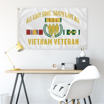 VIETNAM VETERAN, ALL GAVE SOME, 58479 GAVE ALL – WALL FLAG