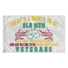There's A Bunch Of Us Old Men, Still Left That Give A Damn & Are Willing To Do What Is Necessary Veterans, Wall Flag (Made in America) Flags carthook_checkout, FLAG, meta-relate-collection-u-