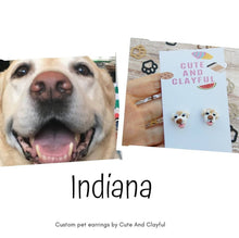 Load image into Gallery viewer, Made during August ** Customised Pet Earrings (Cat or dog) pls read description for info before you purchase