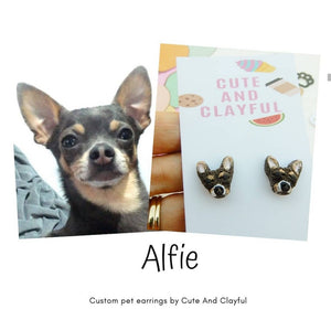 Made during June/July ** Customised Pet Earrings (Cat or dog) pls read description for info after you purchase