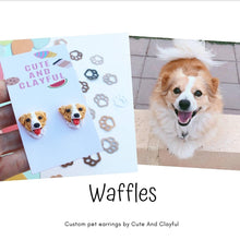 Load image into Gallery viewer, Made during June/July ** Customised Pet Earrings (Cat or dog) pls read description for info after you purchase
