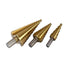 3PCS HSS STEP DRILL SET