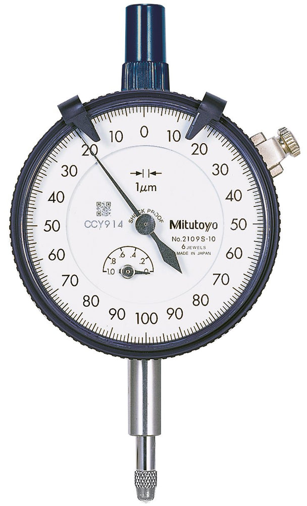 MITUTOYO 2109S-10 PLUNGER TYPE DIAL INDICATOR 0.001