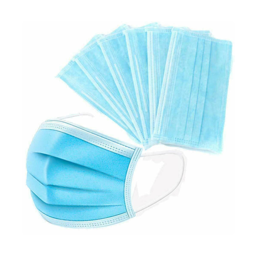 3 LAYER BLUE SAFETY MASK PACK OF 25 PCS