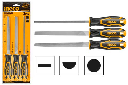 INGCO HKTFS1308 3PCS STEEL FILE SET