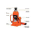 GROZ BOTTLE JACK 50TON BT/50W WELDING JBI