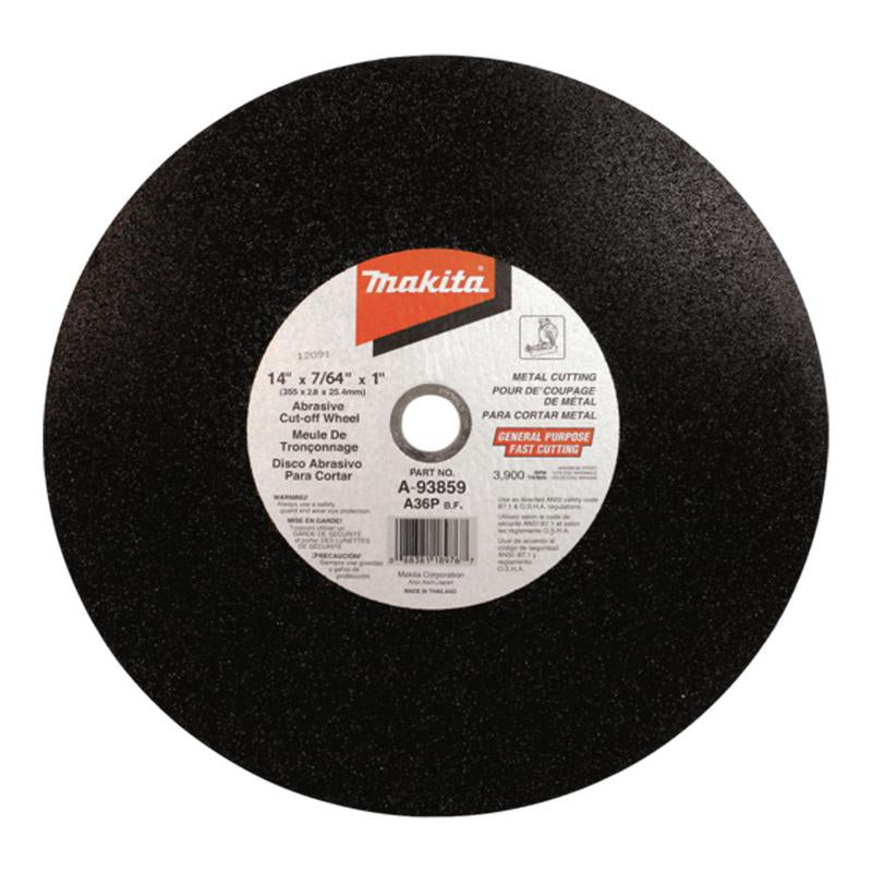 MAKITA CUT OFF WHEEL 14INCHX7/64X1 CUTTING WHEEL 355X2.8X25.4MM  PACK OFF 2