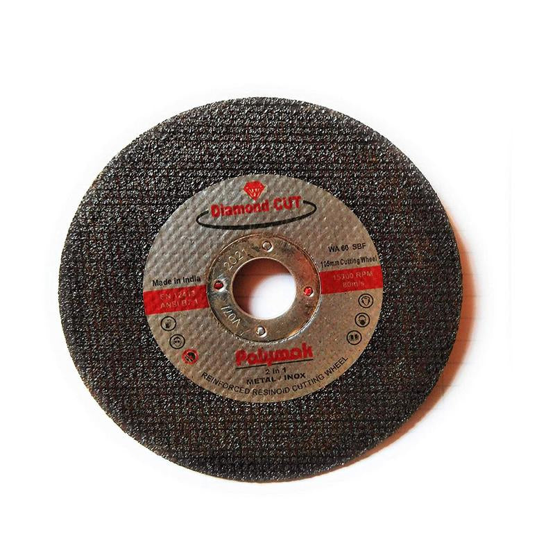 POLYMAK CUTTING WHEEL 4INCH CUT OFF WHEEL CO105X1 DIAMOND CUT (BLACK)