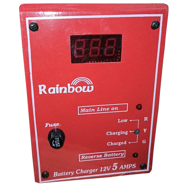 RAINBOW BATTERY CHARGER 5AMPS 12V rainbow, battery charger, power tool, rainbow battery charger, rainbow battery charger amps, rainbow battery charger volts, best rainbow battery charger, buy online price rainbow battery charger, rainbow battery charger online price.